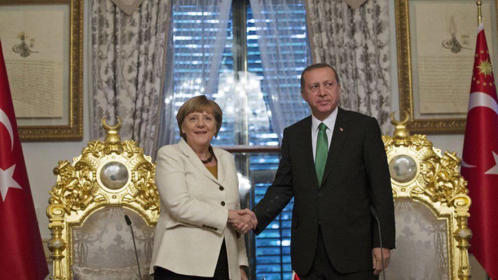 Merkel und Erdogan betonten das gemeinsame Interesse an einer Lösung der Flüchtlingskrise.