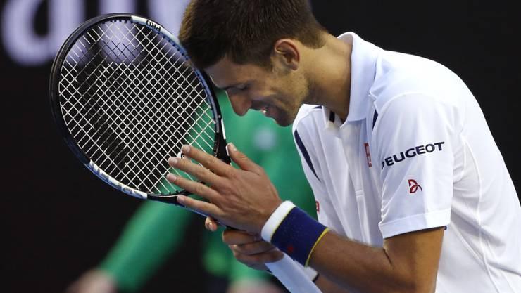 Novak Djokovic musste viereinhalb Stunden lang bangen und kämpfen, ehe sein Sieg über Gilles Simon feststand.
