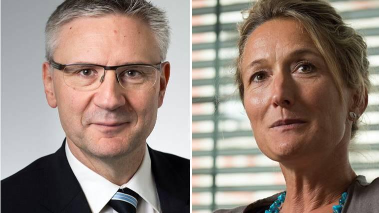 Andreas Glarner, SVP, Matthias Jauslin, FDP, und Marianne Binder, CVP, kritisieren Susanne Hochuli bei Tele M1
