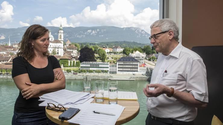 Am 2. Juli geht es um das künftige Stadtoberhaupt – Franziska Roth, die SP-Herausforderin, und FDP-Amtsinhaber Kurt Fluri erklären, welches Solothurn sie unter ihrer Führung sehen.
