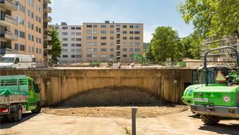 Der Kindergarten ist weg: Die Tiefgarage Bauhalde soll saniert werden.Chris Iseli