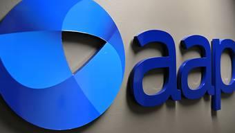 An AAP logo is seen at Sydney Bureau of national newswire Australian Associated Press in Sydney, Thursday, May 21, 2020. (AAP Image/Dean Lewins) NO ARCHIVING