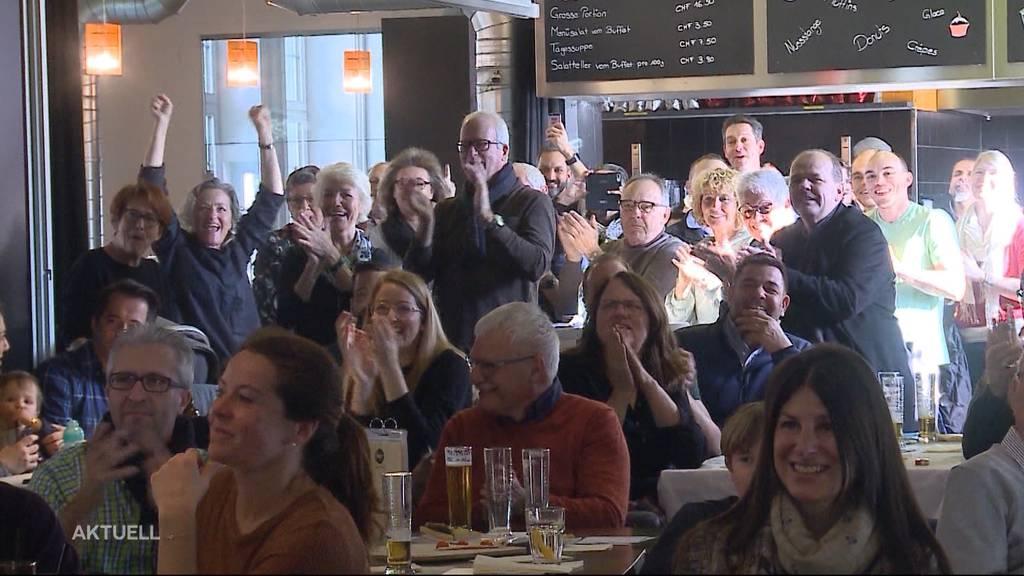 In Oltner Public Viewing feiert man dreifachen Lauberhornsieger