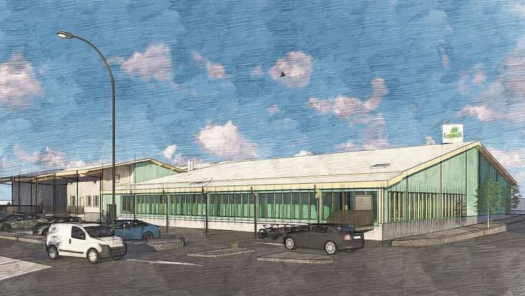 Mit dem Umbau wird der Ladeneingang auf die Parkplatzseite verlegt.