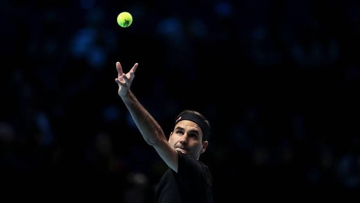 Federers Aufschlag ist ein Schlüssel fürs Duell mit Djokovic.