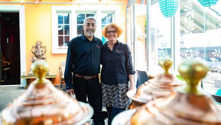 Sie bereichern Derendingen mit dem Restaurant Srignags: Sebi und Regula Singh.