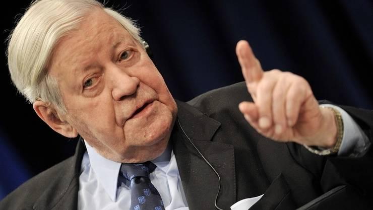 Helmut Schmidt war bekannt für seine direkte Art.