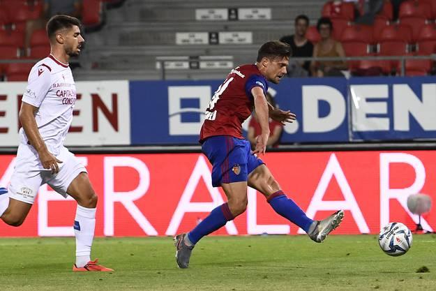 Kurz vor Schluss darf auch der Kapitän noch jubeln: Valentin Stocker und sein Treffer zum 4:1.