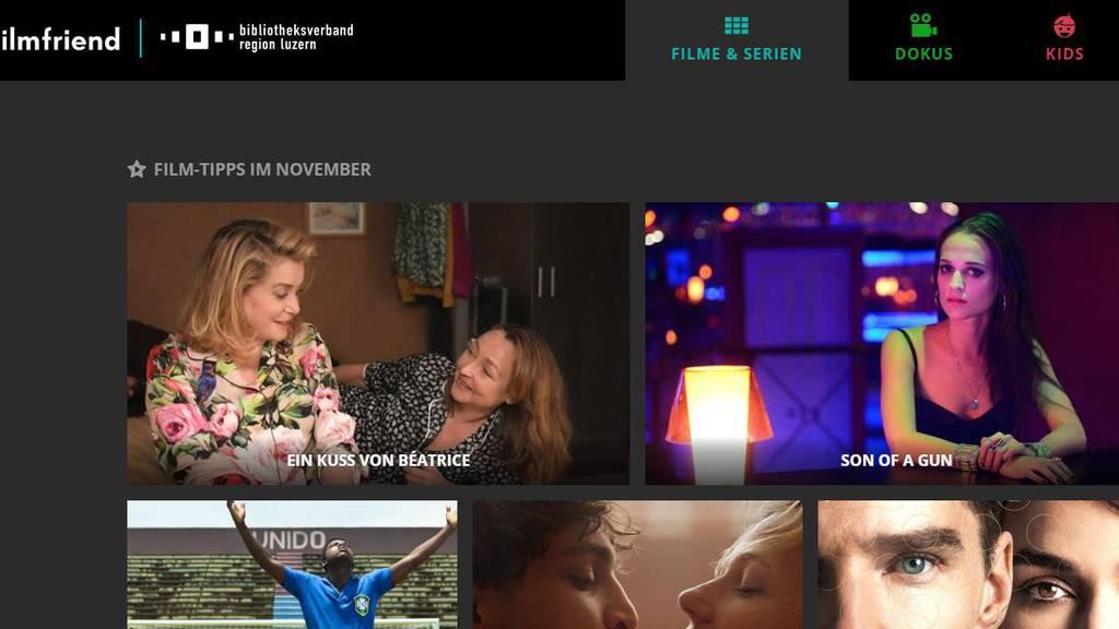 Luzerner Bibliotheken haben nun ein Filmportal