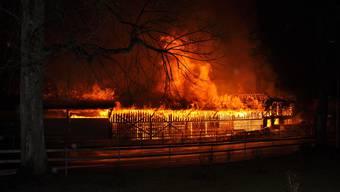 Der Brand wütete in der Silvesternacht. (Archiv)