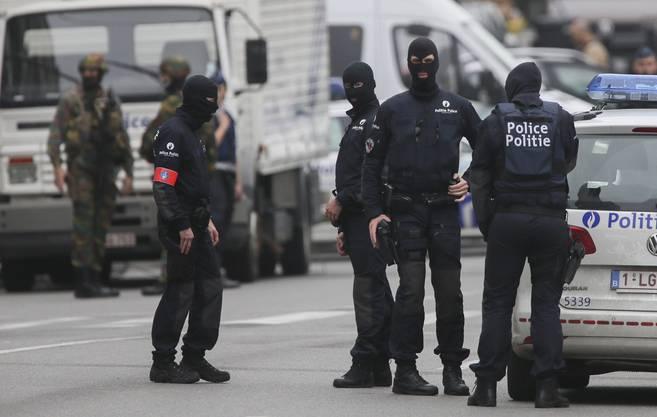 Die Brüsseler Polizei steht wegen einer Bombendrohung im Einsatz.