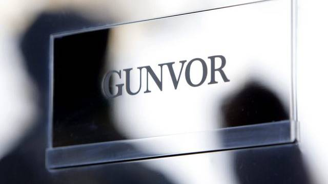 Gunvor-Logo am Firmengebäude in Genf (Archiv)