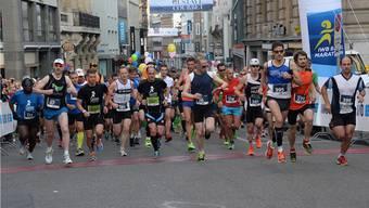 Über 3'000 Läufer nahmen an der diesjährigen Austragung des IWB Basel Marathons teil.