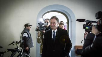 Walter Dubler, hier auf dem Weg zur Gerichtsverhandlung im April. Archiv