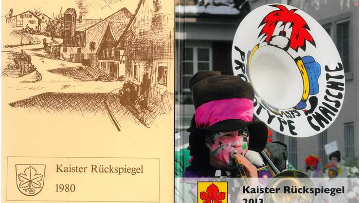 Stark gewandelt: Der «Kaister Rückspiegel» 1980 und 2013.