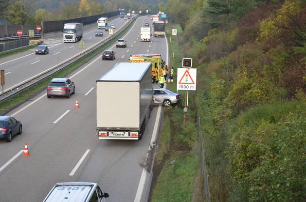 Der Lastwagen übersah das Auto. (zvg)