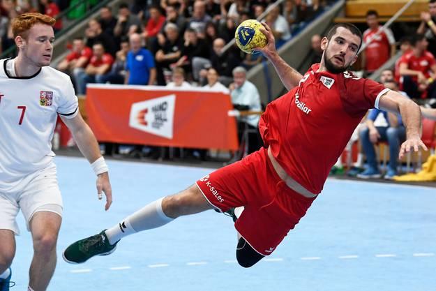 Lucas Meister ist mit seiner derzeitigen Situation beim Bundesligaklub GWD Minden zufrieden.