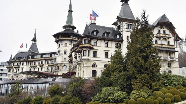 Das Dolder Grand oberhalb von Zürich.