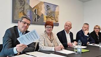 FDP-Stadtrat Benvenuto Savoldelli (ganz links) strebt die dritte Amtszeit im Oltner Stadtrat an.