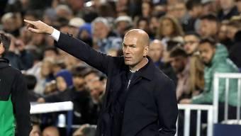 Real Madrids Trainer Zinedine Zidane muss sich mit seinem Team in Leganes mit einem 1:1 begnügen