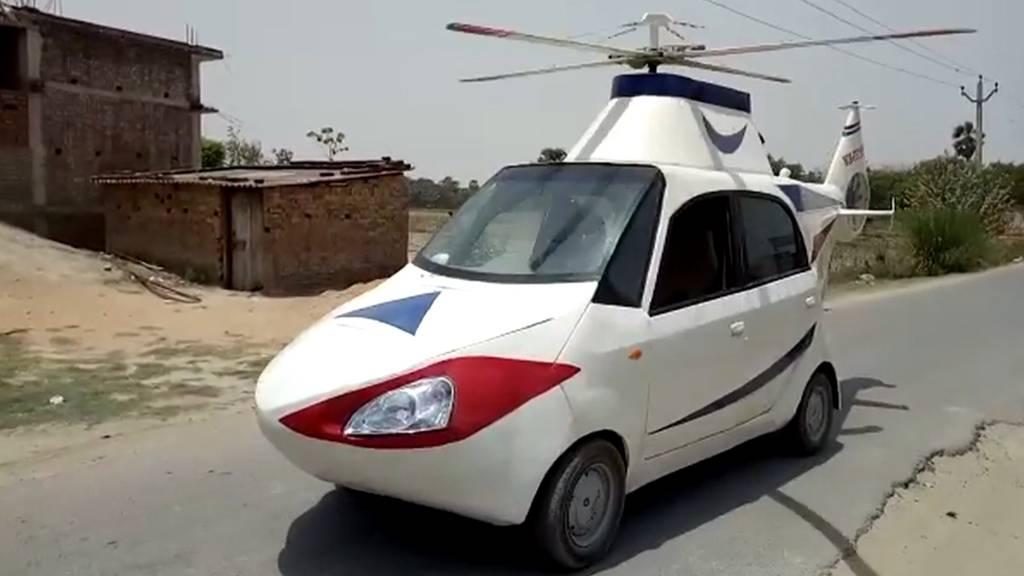 Vom Auto zum Heli: Inder erfüllt sich Traum vom «Fliegen»
