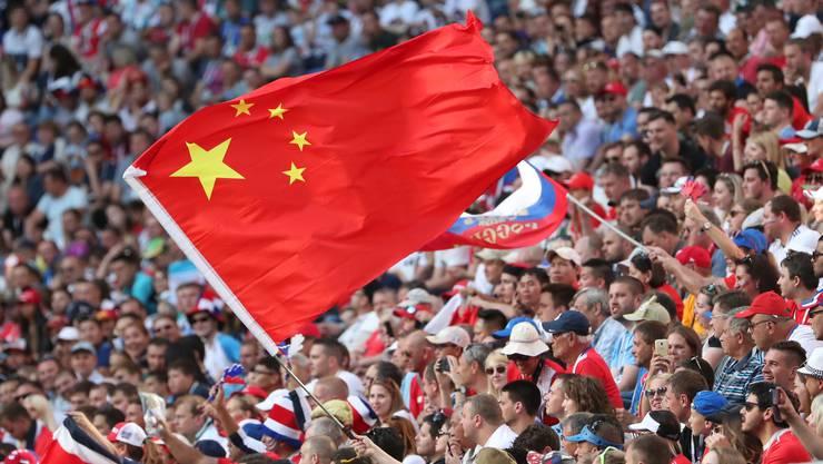 Die chinesische Fahne wird an der WM nur selten gehisst.