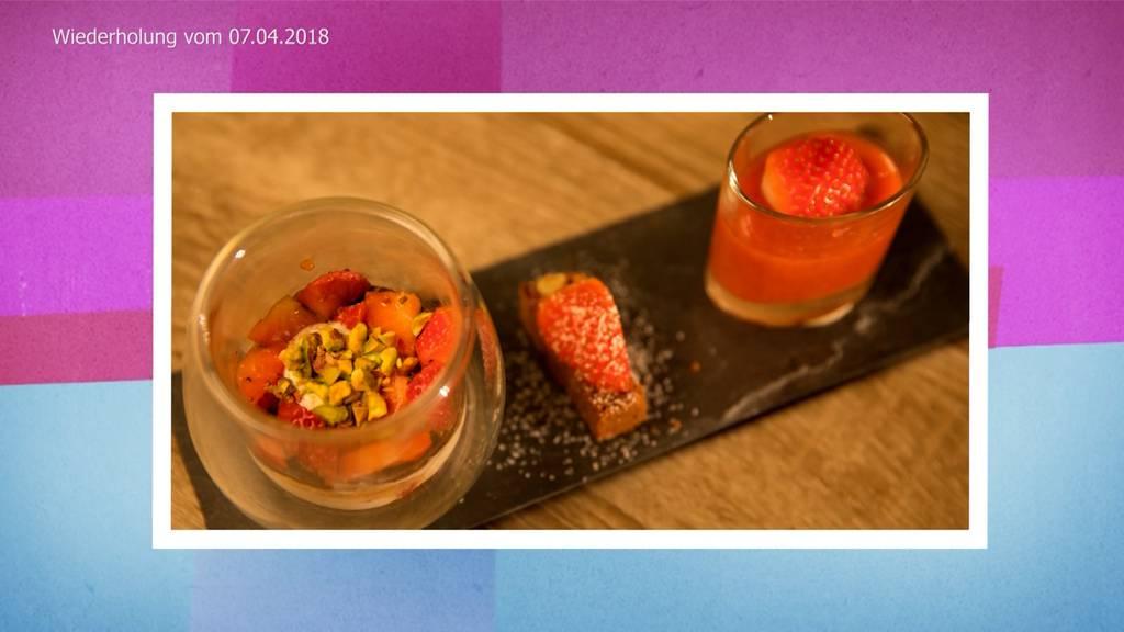 Trifle von Erdbeeren