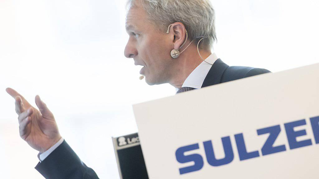 Sulzer-Chef Greg Poux-Guillaume kann deutlich mehr Aufträge in den ersten neun Monaten verbuchen. (Archiv)