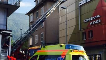 Rettungseinsatz der Feuerwehr.