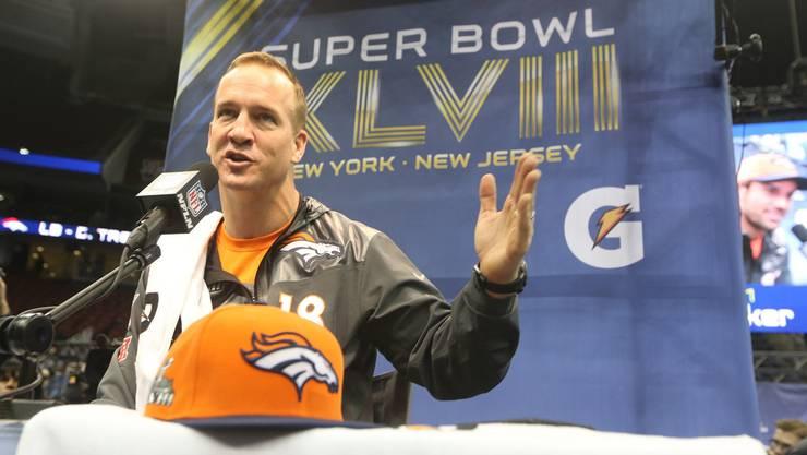 Jeden Cent wert: 20-Millionen-Mann Peyton Manning von den Broncos.