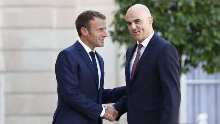 Die beiden Präsidenten sprachen unter anderem über die Beziehungen ihrer beiden Länder und über Europapolitik.