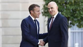 Bundespräsident Berset zu Besuch bei Macron