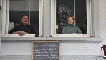 Joachim Oestringer und Myriam Rufer freuen sich auf ihr neues Takeaway-Lokal in Bremgarten