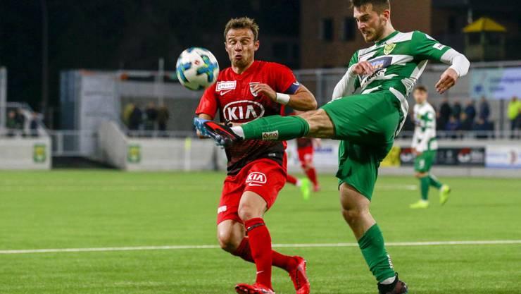 Der FC Aarau und der SC Kriens trennen sich in einer umkämpften Partie mit 2:2.