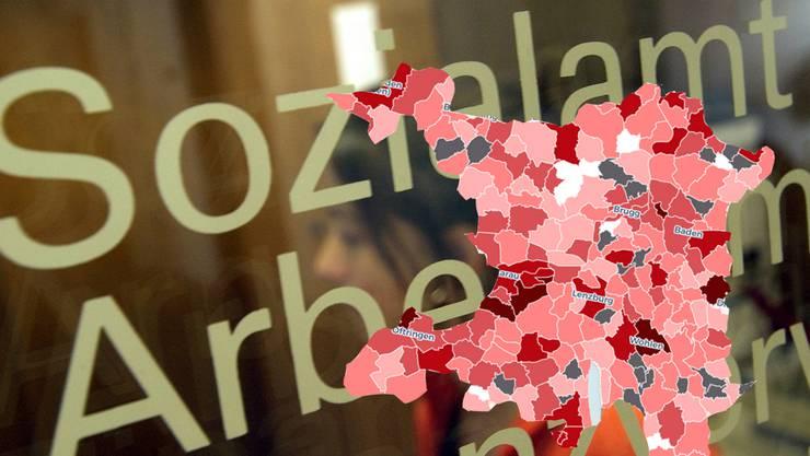 Sozialhilfequote: Spreitenbach hat die Rote Laterne an Aarburg abgegeben.