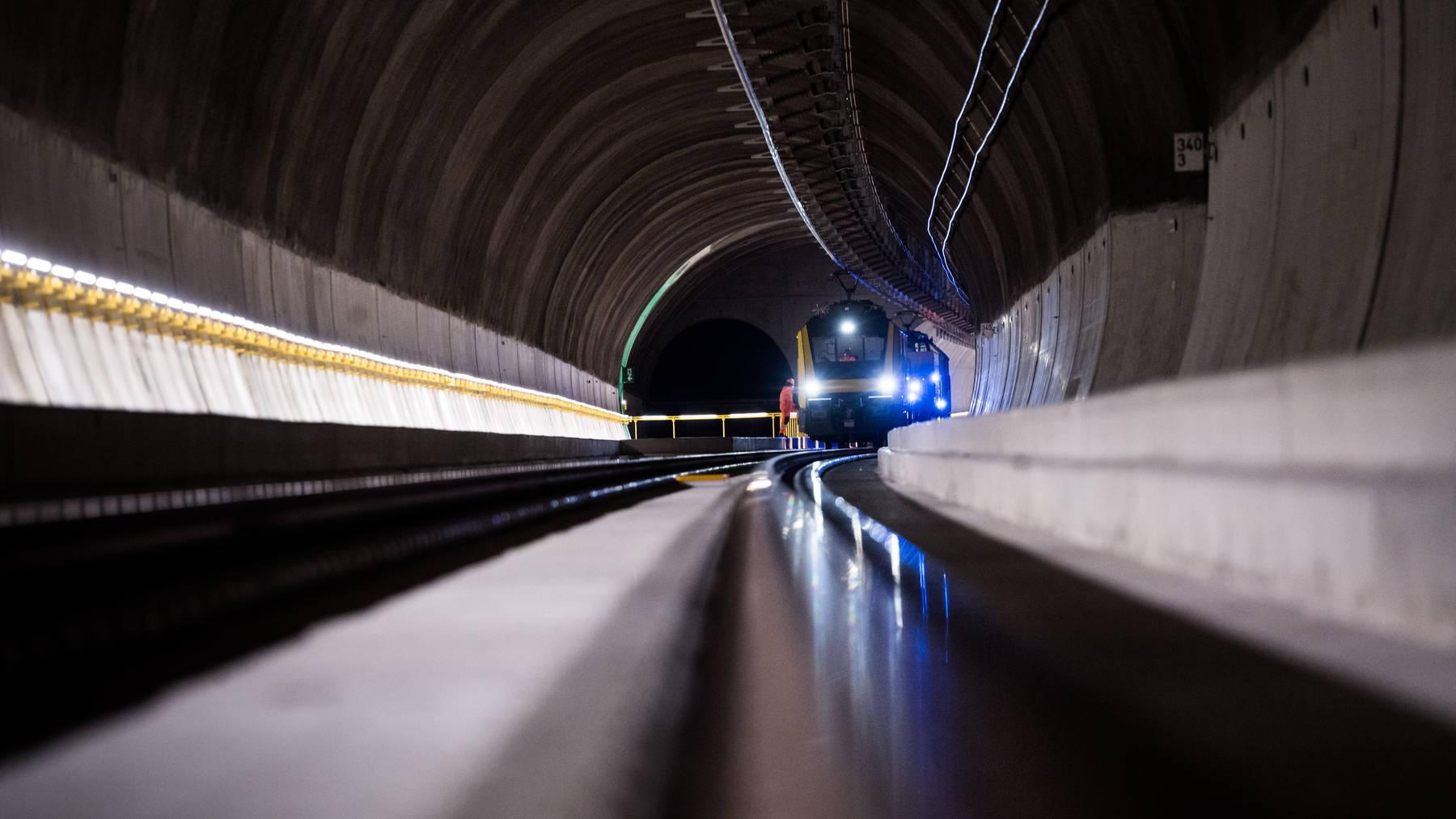 Erste reguläre Fahrt: Der Ceneri-Basistunnel ist mit dem Fahrplanwechsel 2020 offiziell in Betrieb. (Symbolbild)
