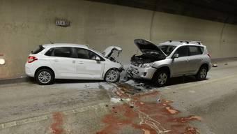 Verkehrsunfall im Sissacher Chienbergtunnel