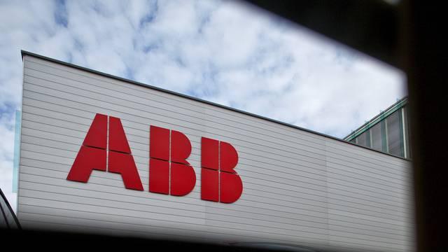 Logo an einem ABB-Gebäude in Baden (Archiv)