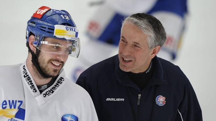 Luca Cunti mit Trainer Bob Hartley