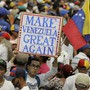 Anhänger von Venezuelas selbst ernanntem Interimspräsidenten Juan Guaidó bei einer Kundgebung in der Hauptstadt Caracas.