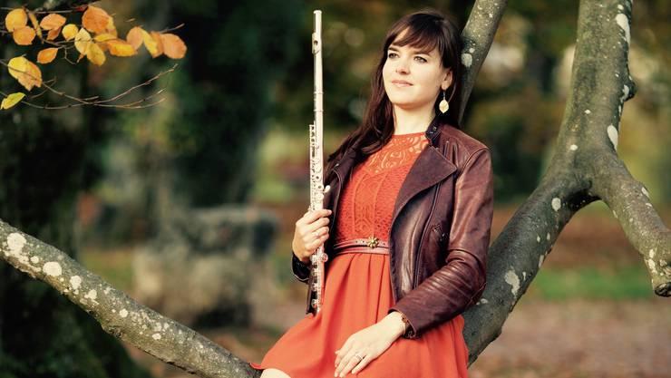 Patricia Brogli spielt neben der Querflöte und der Flöte auch Klavier.