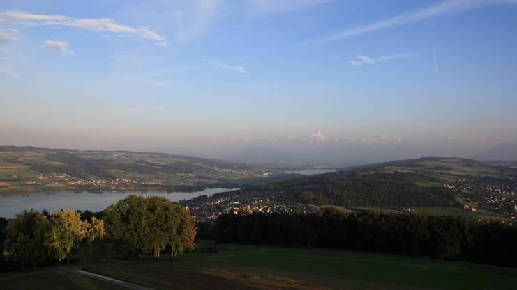 Blick vom Hombergturm in Reinach.