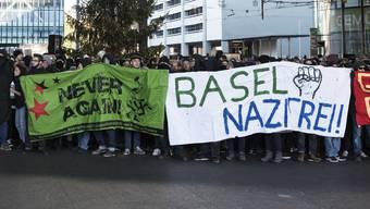 Eine Demonstration der PNOS und eine Gegendemo von Linken führte im November 2018 zu Ausschreitungen in Basel.
