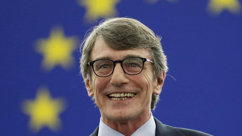 Der Sozialdemokrat David-Maria Sassoli ist am Mittwoch in Strassburg im zweiten Wahlgang mit 345 Stimmen zum neuen Präsident des EU-Parlaments gewählt worden.