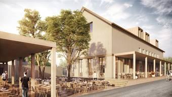 Das neue Restaurant Fahr im Künter Ortsteil Sulz wird über einen grosszügigen Gartensitz platz verfügen. Die Eröffnung ist im Sommer 2017 vorgesehen.