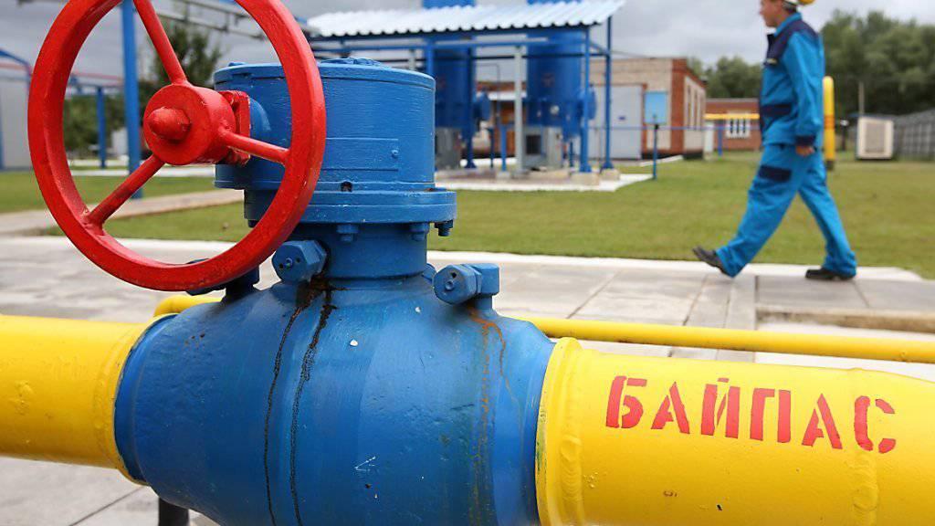 In wenigen Wochen soll wieder russisches Gas in die Ukraine kommen. Im Bild Gaswerk in der Nähe des ukrainischen Ortes Poltava (Archiv)