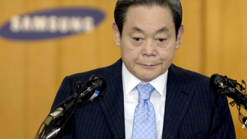 Der Verwaltungsratspräsident von Samsung, Lee Kun Hee, ist am Sonntag verstorben. (Archivbild)
