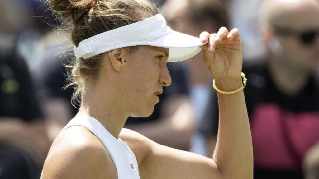 Muss, oder darf, sich am US Open auf eine neue Gegnerin einstellen: Viktorija Golubic
