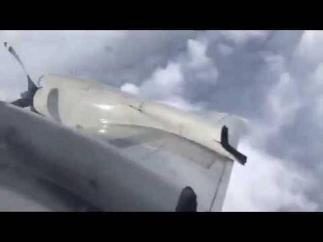 Blick aus dem Fenster: Der Flug in den Sturm aus anderer Perspektive.