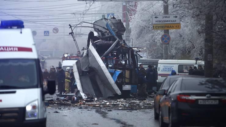 Die Wucht der Explosion war gewaltig.